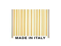 Barcode made with italian spaghetti Stock Photo
