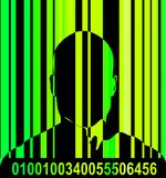 Barcode And Man 10 Stock Photography