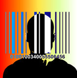 Barcode And Man 6. An image of a barcode and a man, a good image for retail and identitie concepts royalty free illustration