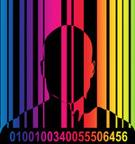 Barcode And Man 7. An image of a barcode and a man, a good image for retail and identitie concepts royalty free illustration