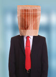 Barcode man Royalty Free Stock Image
