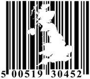 Barcode mit Großbritannien-umreiß Lizenzfreie Stockfotos