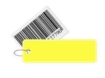 Barcode mit Kennsatz Lizenzfreies Stockbild