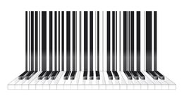 Barcode in musical style. Abstract barcode in musical style Stock Images
