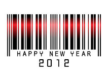 Barcode new year  2012 Stock Photos