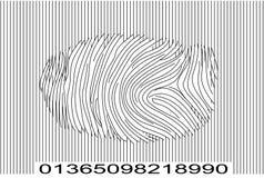 barcode odcisków palców. royalty ilustracja