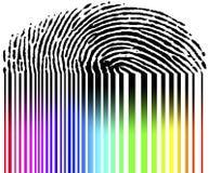 barcode odcisk palca Obraz Royalty Free
