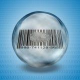 Barcode odcisk palca ilustracji