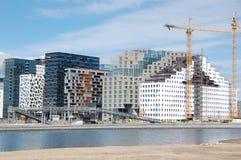 Barcode Oslo. Under construction also called Oslo Skyline royalty free stock photos