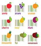 Barcode Owoc Ilustracji