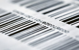 Barcode on packaging Royalty Free Stock Image