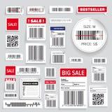 Barcode Pakuje biznes etykietki Zdjęcia Stock