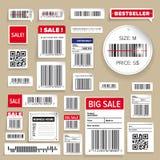 Barcode Pakuje biznes etykietki Zdjęcia Royalty Free