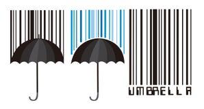 barcode parasol Fotografia Royalty Free