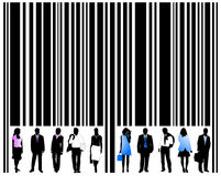 Barcode and people Royalty Free Stock Image