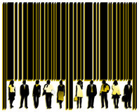 Barcode and people. Illustration of barcode and people Royalty Free Stock Image