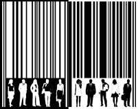 Barcode and people Royalty Free Stock Photos