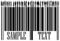 Barcode and people Stock Images