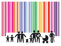 Barcode persons royalty free stock images