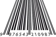 Barcode perspective Royalty Free Stock Image