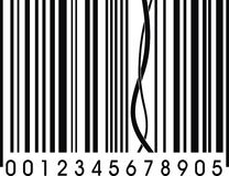 Barcode problem (wrong barcodea as funny joke). Background Royalty Free Stock Photo