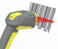 Barcode przeszukiwacz Fotografia Royalty Free