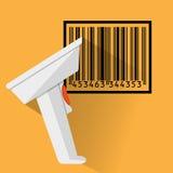 Barcode przeszukiwacza płaski projekt ilustracja wektor