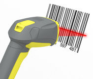 Barcode reader. 3d generated picture of a barcode reader Stock Photos