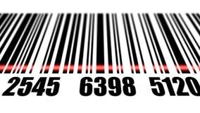Barcode reading on white background. Stock Photo
