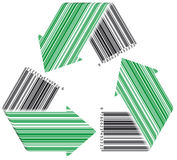 Barcode Recycle stock illustration