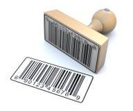 barcode ruber znaczek ilustracji