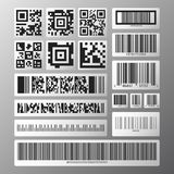 Barcode and scan code set Royalty Free Stock Photography