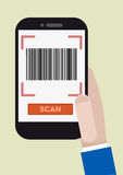 Barcode scan Stock Photos