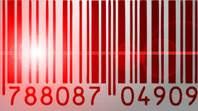 Barcode scanner. Animation of a barcode scanner with red light stock video