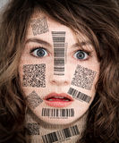 Barcode scanner face Stock Image