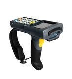 Barcode scanner. Handheld laser barcode scanner computer. Isolated on white background Stock Photos