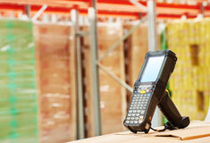 Barcode scanner at warehouse Stock Photography