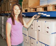 Barcode scanner warehouse Stock Photography