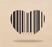 Barcode serce Zdjęcie Stock