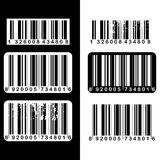 Barcode set Stock Image