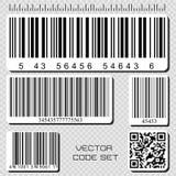 Barcode set Zdjęcie Stock
