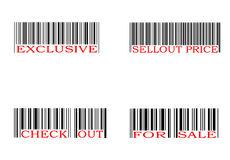 Barcode set vector illustration