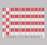 Barcode set the color of Bremen flag, a red and white flag. The States of Germany royalty free stock photography
