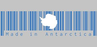Free Barcode Set The Color Of Antarctica Flag, Text: Made In Antarctica, Concept Of Sale Or Business. Stock Photos - 130301493