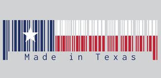 Free Barcode Set The Color Of Texas Flag, Blue Containing A Single Centered White Star. Horizontally White And Red Color. Royalty Free Stock Photos - 127618698