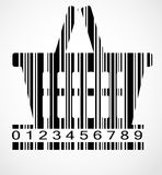 Barcode shoping cart image vector illustration Stock Images