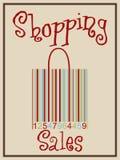 Barcode shopping bag Stock Image