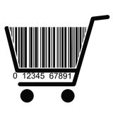 BARCODE Shopping basket Royalty Free Stock Photos