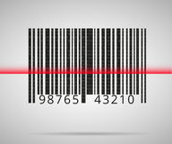 Barcode skanerowanie Zdjęcia Stock