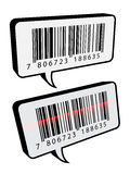 Barcode speech bubbles Stock Photography